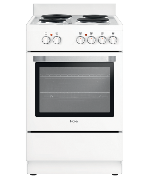 Haier 54cm White Electric Freestanding Cooker - Betta Online Only Price