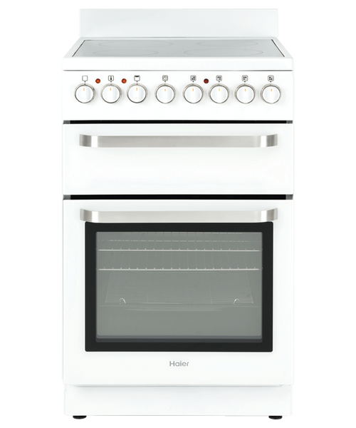 Haier 54cm White Ceramic Electric Freestanding Cooker - Betta Online Only Price