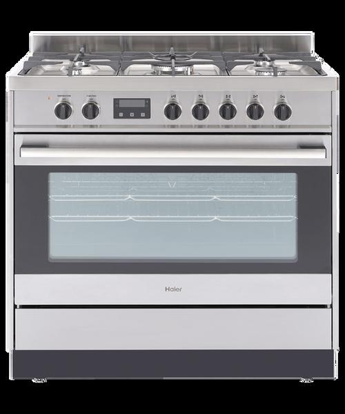Haier 90cm S/Steel Dual Fuel Freestanding Cooker - Betta Online Only Price