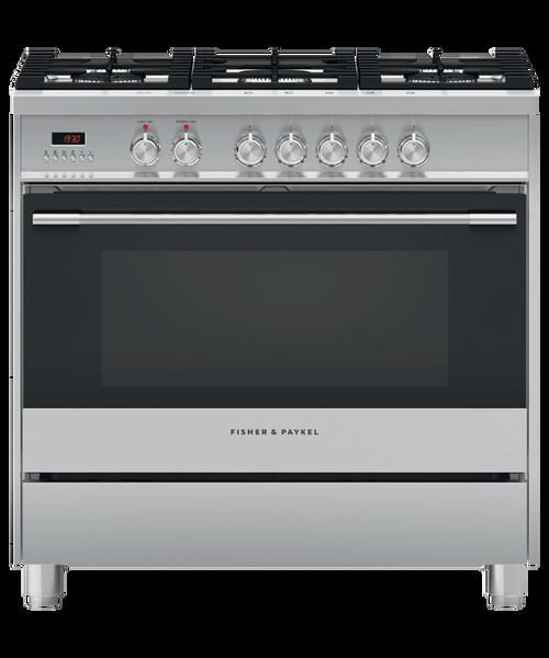 Fisher & Paykel 90cm S/Steel Dual Fuel Freestanding Cooker - Betta Online Only Price