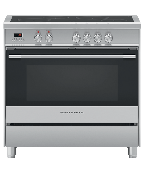Fisher & Paykel 90cm S/Steel Induction Electric Freestanding Cooker - Betta Online Only Price