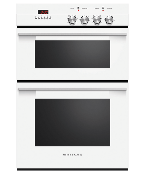 Fisher & Paykel 60cm White 7 Function Double Built-in Oven - Betta Online Only Price