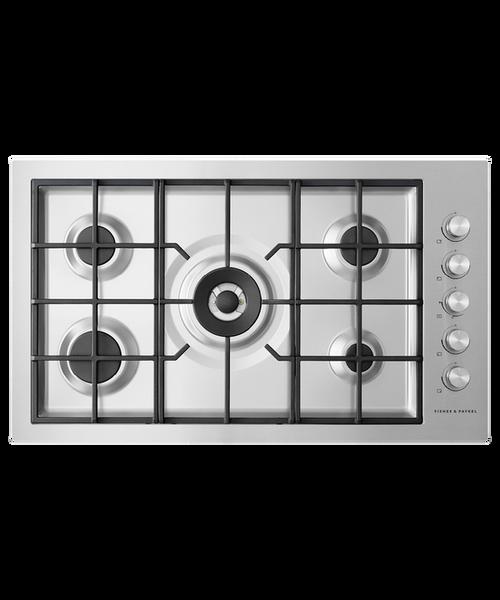 Fisher & Paykel 90cm S/Steel 5 Burner Gas Cooktop - Betta Online Only Price