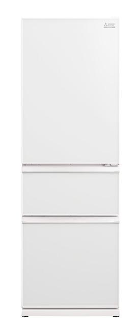 Mitsubishi Electric 402L White Glass Panel Multi Drawer Fridge/Freezer Left Hand - Betta Online Only Price