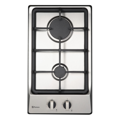Parmco Domino 30cm S/Steel 2 Burner Gas Cooktop - Betta Online Only Price