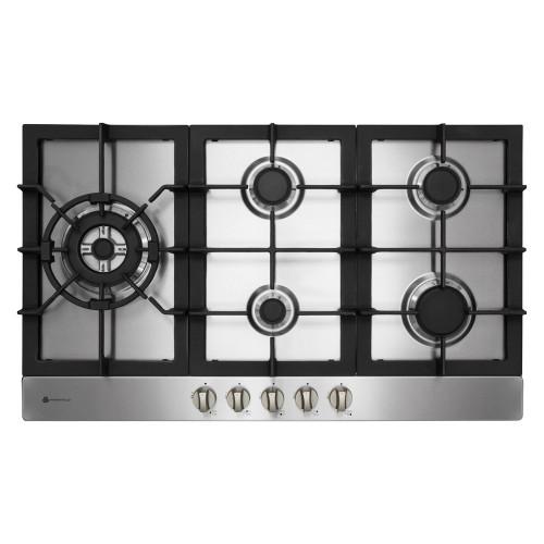 Parmco 90cm S/Steel 5 Burner Gas Cooktop - Betta Online Only Price