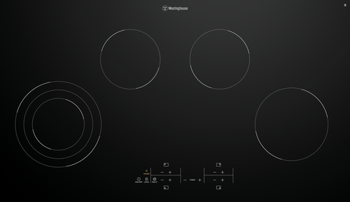 Westinghouse 90cm 4 zone Ceramic Variable Zone Cooktop - Betta Online Only Price