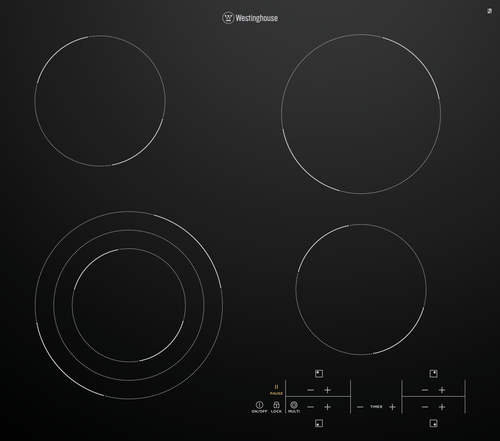 Westinghouse 60cm 4 Zone Ceramic Variable Cooktop - Betta Online Only Price