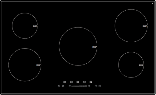 Eurotech 90cm Black Glass Induction 5 Zone Cooktop - Betta Online Only Price