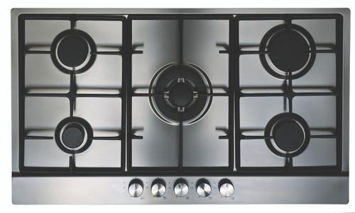 Eurotech 90cm S/Steel Gas Cooktop 5 Burner Cooktop - Betta Online Only Price