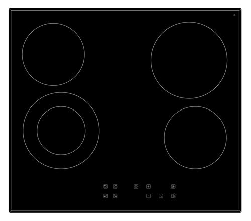 Eurotech 60cm Black Induction 4 Zone Cooktop - Betta Online Only Price