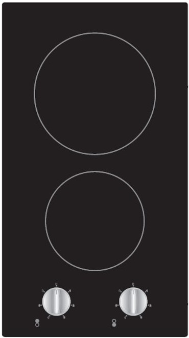 Award 30cm Black Domino 2 Zone Ceramic Cooktop - Betta Online Only Price