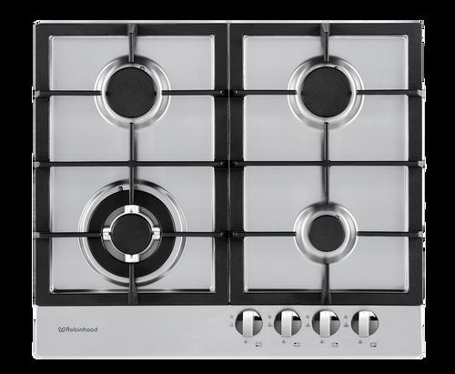 Robinhood 60cm S/Steel 4 Burner Gas Cooktop - Betta Online Only Price