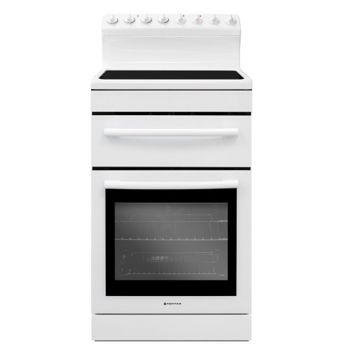 Parmco 54cm White Ceramic Electric Freestanding Cooker - Betta Online Only Price