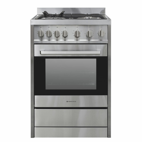 Parmco 60cm S/Steel Gas/Gas Freestanding Cooker - Betta Online Only Price