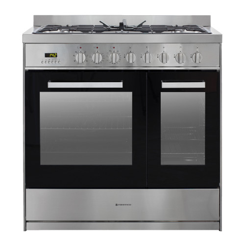 Parmco 90cm S/Steel Dual Fuel Freestanding Cooker - Betta Online Only Price