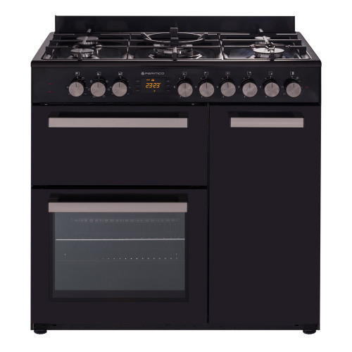 Parmco 90cm Black Dual Fuel Country Style Freestanding Cooker - Betta Online Only Price
