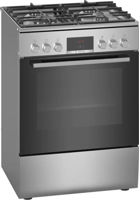 Bosch 60cm S/Steel Dual Fuel Freestanding Cooker Series 4 - Betta Online Only Price