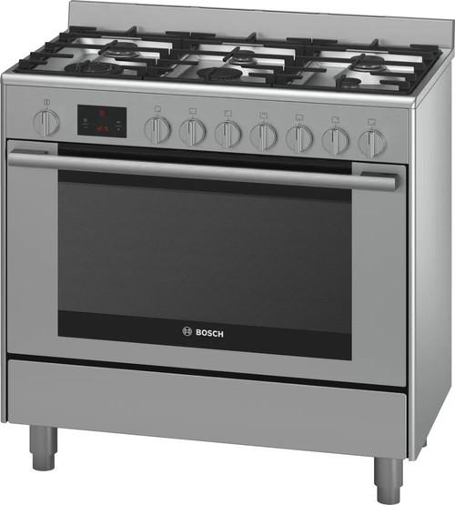 Bosch 90cm S/Steel Dual Fuel Freestanding Cooker Series 6 - Betta Online Only Price