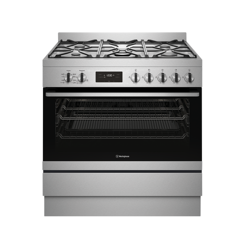 Westinghouse 90cm S/Steel Dual Fuel Freestanding Cooker - Betta Online Only Price