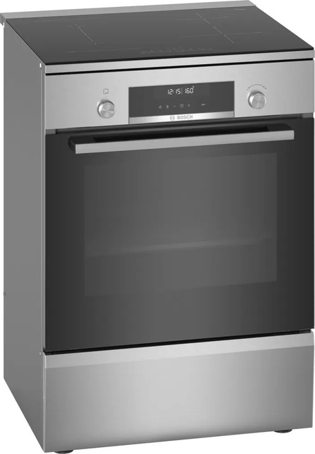 Bosch 60cm S/Steel Induction Electric Pyrolytic Freestanding Cooker Series 6 - Betta Online Only Price