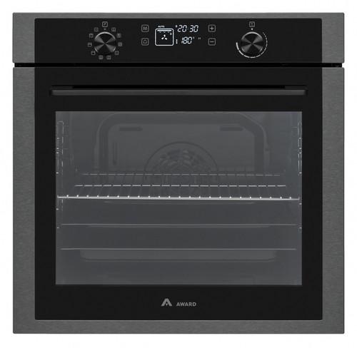 Award 60cm Black Steel 10 Function Built-in Oven - Betta Online Only Price