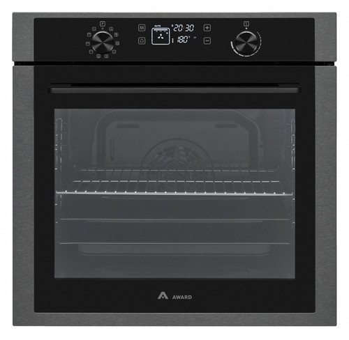 Award 60cm Black Steel 10 Function Pyrolytic Built-in Oven - Betta Online Only Price