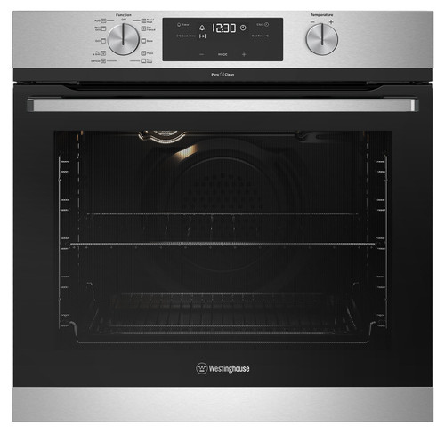 Westinghouse 60cm S/Steel 10 Function Pyrolytic Built-in Oven - Betta Online Only Price