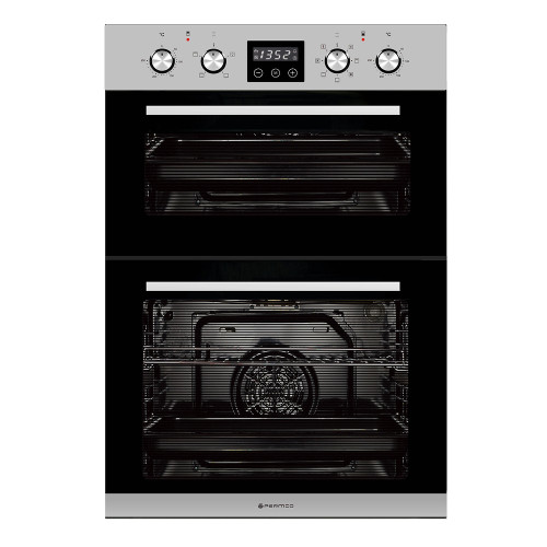 Parmco 60cm S/Steel 7 Function Built-in Double Oven - Betta Online Only Price