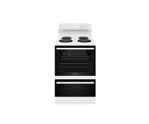 Westinghouse 60cm White  Coil Electric Freestanding Cooker - Betta Online Only Price