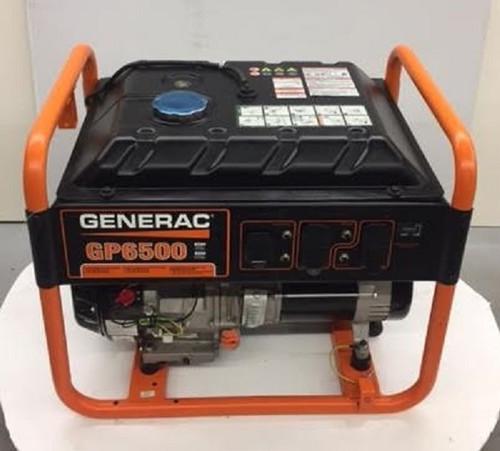 Generac 6,500-Watt Gasoline Powered Portable Generator Sales Floor Demo Model