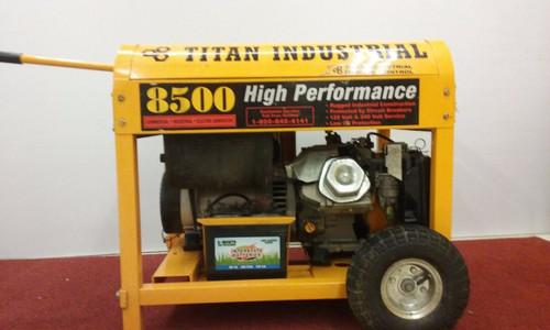 USED  Titan Industrial Generator  Heavy Duty   Portable Gas Generator