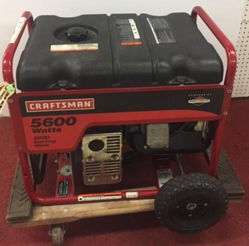 USED Craftsman 5600 watt Model 32560 Potable Generator Gas Brigs & Stratton Eng.
