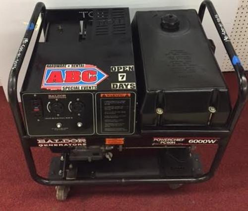 USED Baldor 6000 Watt Model PC60H Powerchief Generator Gas Power Honda Engine
