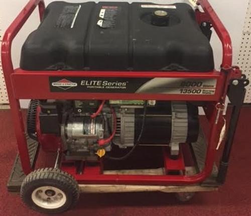 USED Briggs and Stratton Model 30210 8000 Watt Elite Series Generator Gas Power