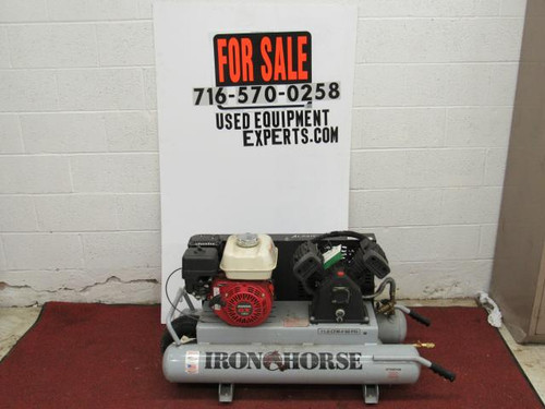 Air Compressor with Honda GX Engine, Iron Horse 10 Gallon Air Tank Used