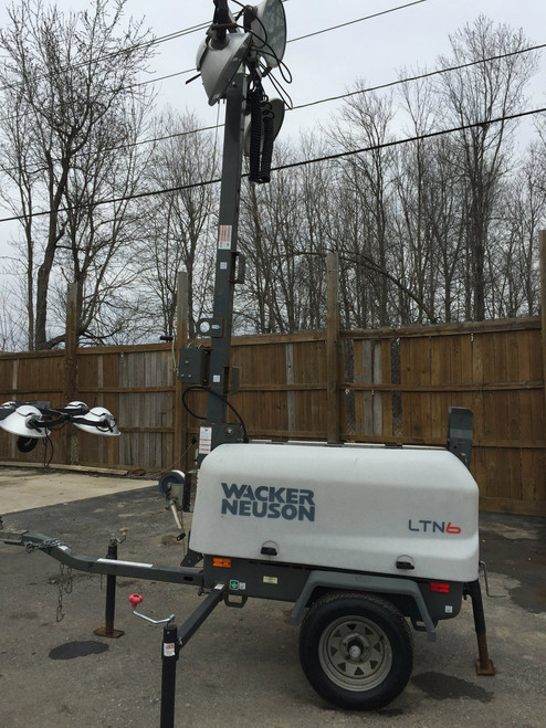 5 Used Light Tower Package  Wacker Neuson LTN6L Tow Behind Diesel Kohler Eng.w/6K Generator