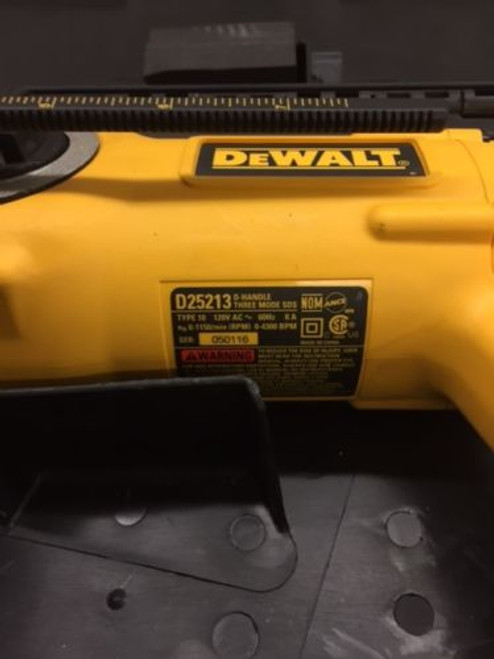 DEWALT D25213K 1-Inch D-Handle Three Mode SDS Hammer, Sales Floor Demo Model