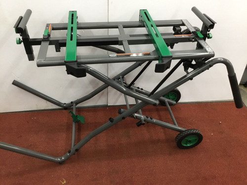 Hitachi Steel Miter Saw Stand and Heavy Duty Portable Saw Table Mounting Dolly