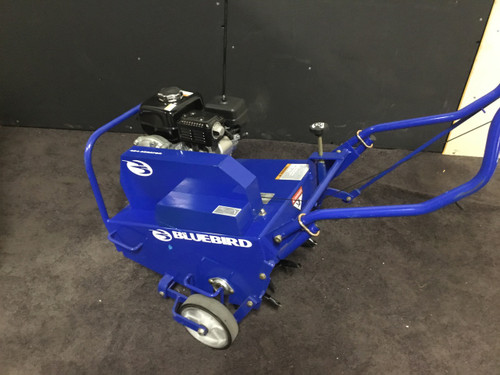 Used Bluebird B424B Lawn Aerator with Commercial 5.5 HP Briggs and Stratton Engine