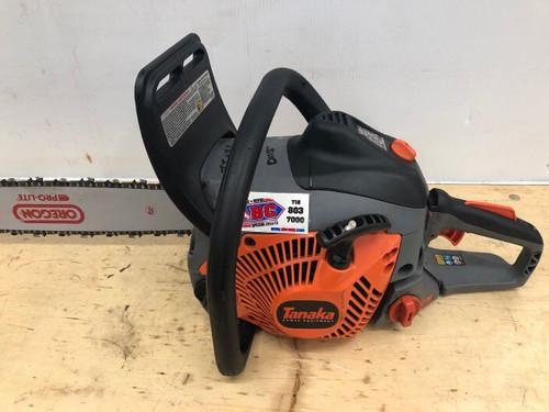 Used Tanaka 20-Inch Rear Handle 50.1cc Chain Saw Gas Powered Tree Cutting & Trim