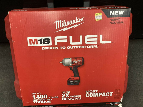 """Milwaukee 2767-22 M18 FUEL 1/2"""" High Torque Impact Wrench Kit w/ Friction Ring"""
