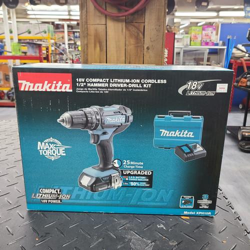 """Makita 18V LXT® Lithium‑Ion Compact Cordless 1/2"""" Hammer Driver‑Drill Kit (2.0Ah)"""