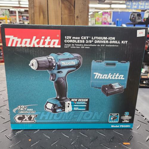 """Makita 12V max CXT® Lithium‑Ion Cordless 3/8"""" Driver‑Drill Kit (2.0Ah)"""