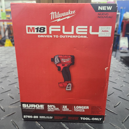 "Milwaukee M18 FUEL™ SURGE™ 1/4"" Hex Hydraulic Driver (Tool Only)"