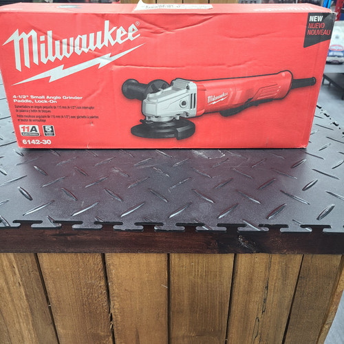 Milwaukee 11 Amp Corded 4-1/2 in. Small Angle Grinder with Lock-On Paddle Switch