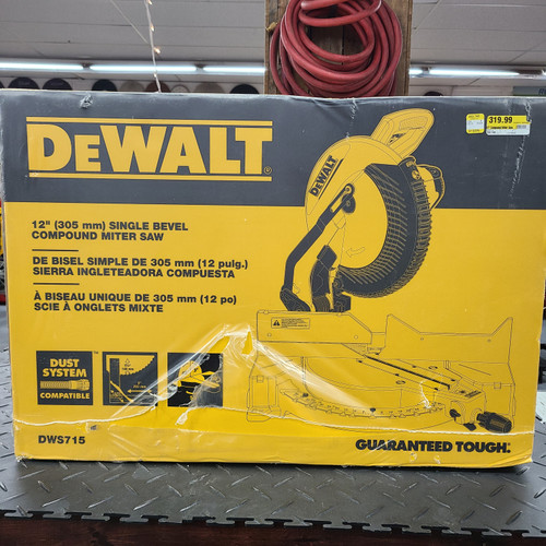 Dewalt 15 AMP 12 IN. ELECTRIC SINGLE-BEVEL COMPOUND MITER SAW