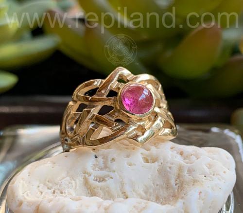 Danadas Gem Ring, yellow gold w Pink Tourmaline