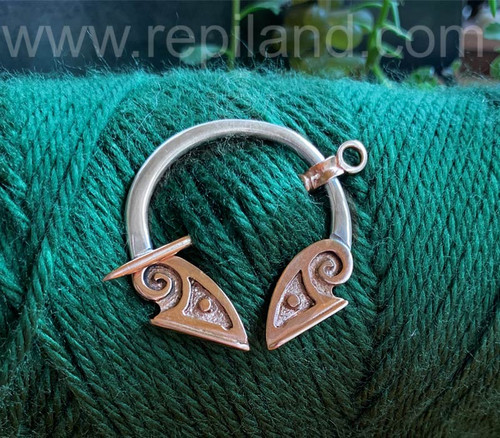 Soay Penannular, rose gold & sterling