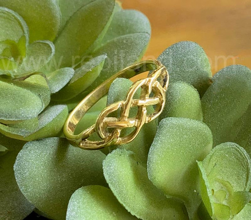 Neamhain Knot Ring, gold